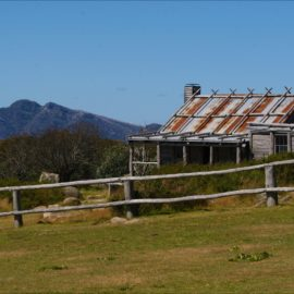 Craig's Hut on the Mountain side of Mount Clear