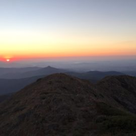 A beautiful sunset from the summit of Mt Buller