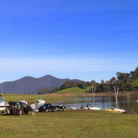 On the banks of Lake Eildon