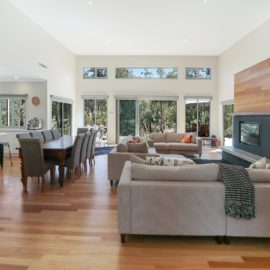 Exceptional open plan living space with views